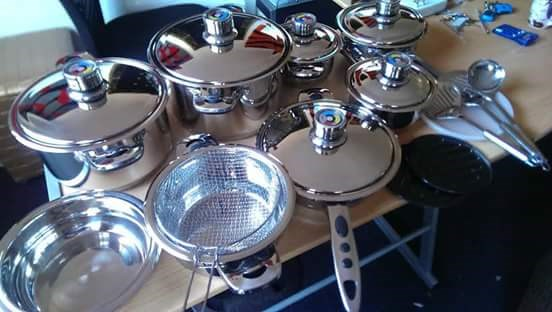 21 Pcs Genuine Swiss Mafy Cookware Set Stainless Steel